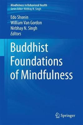 Buddhist Foundations of Mindfulness - Mindfulness in Behavioral Health (Paperback)