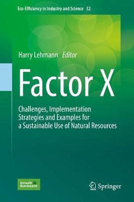 Factor X: Challenges, Implementation Strategies and Examples for a Sustainable Use of Natural Resources - Eco-Efficiency in Industry and Science 32 (Hardback)