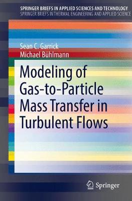 Modeling of Gas-to-Particle Mass Transfer in Turbulent Flows - SpringerBriefs in Applied Sciences and Technology (Paperback)