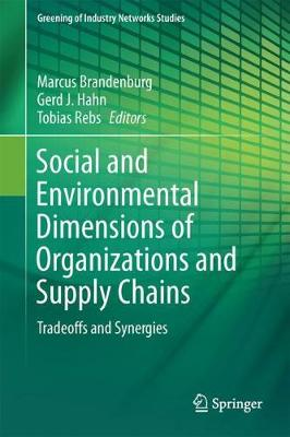 Social and Environmental Dimensions of Organizations and Supply Chains: Tradeoffs and Synergies - Greening of Industry Networks Studies 5 (Hardback)