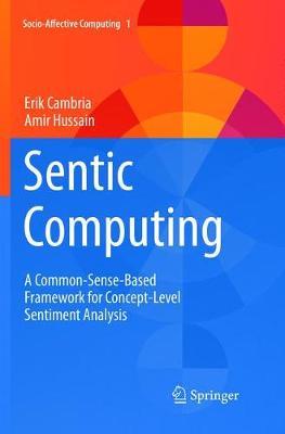 Sentic Computing: A Common-Sense-Based Framework for Concept-Level Sentiment Analysis - Socio-Affective Computing 1 (Paperback)