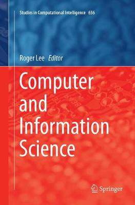Computer and Information Science - Studies in Computational Intelligence 719 (Paperback)