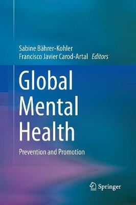 Global Mental Health: Prevention and Promotion (Paperback)