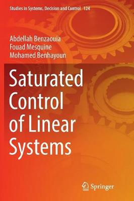 Saturated Control of Linear Systems - Studies in Systems, Decision and Control 124 (Paperback)