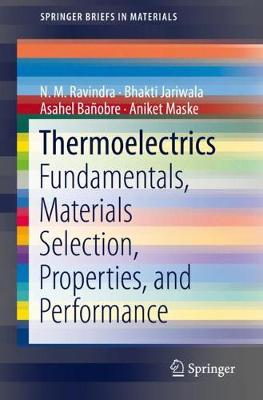 Thermoelectrics: Fundamentals, Materials Selection, Properties, and Performance - SpringerBriefs in Materials (Paperback)