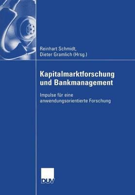 Kapitalmarktforschung und Bankmanagement (Paperback)