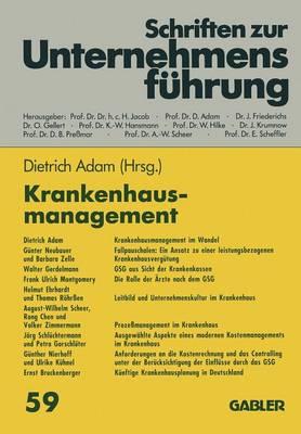 Krankenhausmanagement - Schriften zur Unternehmensfuhrung (Paperback)
