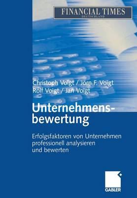 Unternehmensbewertung: Erfolgsfaktoren Von Unternehmen Professionell Analysieren Und Bewerten (Paperback)