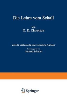 Die Lehre Vom Schall (Paperback)