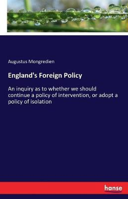 England's Foreign Policy (Paperback)