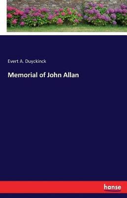 Memorial of John Allan (Paperback)