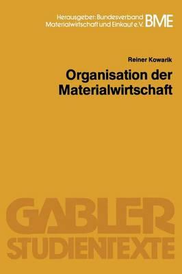 Organisation Der Materialwirtschaft - Gabler-Studientexte (Paperback)