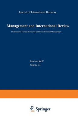 International Human Resource and Cross Cultural Management: Mir - Special Issue 1/97 - Mir Special Issue 1/97 (Paperback)