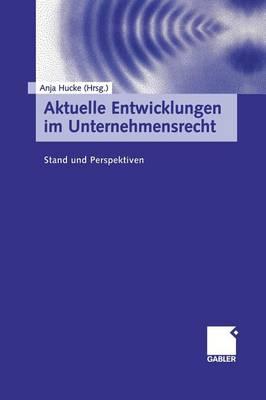 Aktuelle Entwicklungen Im Unternehmensrecht: Stand Und Perspektiven (Paperback)