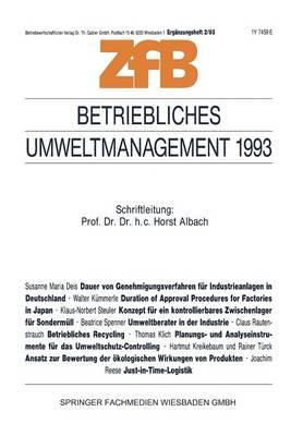 Betriebliches Umweltmanagement 1993 - Zeitschrift Fur Betriebswirtschaft 2/93 (Paperback)