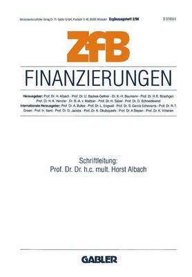 Finanzierungen - ZFB Special Issue 2 (Paperback)