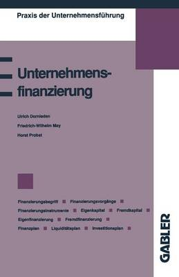 Unternehmensfinanzierung: Finanzierungsbegriff, Finanzierungsvorg nge, Finanzierungsinstrumente, Eigenkapital, Fremdkapital, Eigenfinanzierung, Fremdfinanzierung, Finanzplan, Liquidit tsplan, Investitionsplan - Praxis Der Unternehmensfuhrung (Paperback)