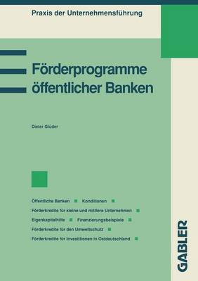 F�rderprogramme �ffentlicher Banken - Praxis Der Unternehmensfuhrung (Paperback)