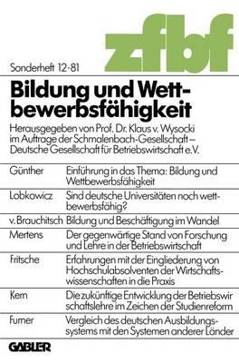 Bildung Und Wettbewerbsfahigkeit: 34 Deutschen Betriebswirtschafter-Tages : Papers (Paperback)