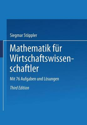 Mathematik Fur Wirtschaftswissenschaftler - Uni-Taschenbucher (Paperback)