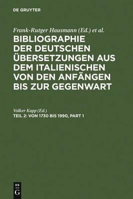 Von 1730 Bis 1990 (Hardback)