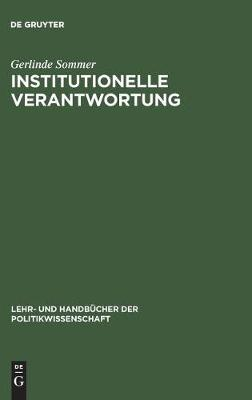 Institutionelle Verantwortung (Hardback)