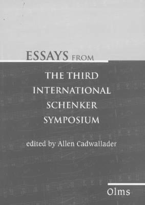 Essays from the Third International Schenker Symposium (Paperback)