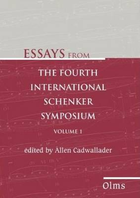 Essays from the Fourth International Schenker Symposium (Paperback)