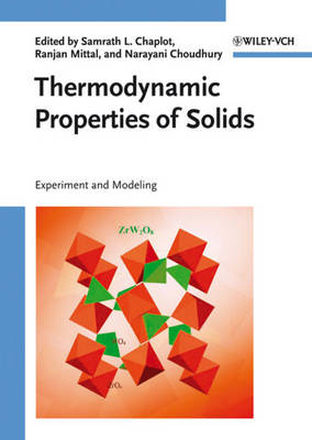 Thermodynamic Properties of Solids: Experiment and Modeling (Hardback)