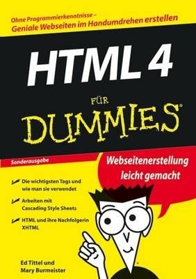 HTML 4 fur Dummies - Fur Dummies (Paperback)