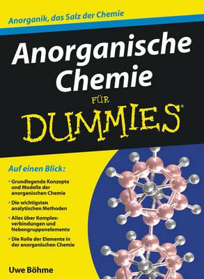 Anorganische Chemie Fur Dummies - Fur Dummies (Paperback)