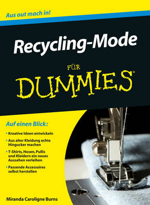 Recycling-Mode fur Dummies - Fur Dummies (Paperback)
