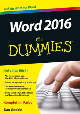 Word 2016 fur Dummies - Fur Dummies (Paperback)