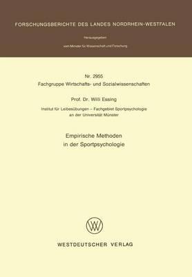 Emprische Methoden in Der Sportpsychologie (Paperback)