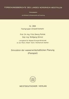 Simulation Detr Wasserwirtschaftlichen Planung: Planspiel (Paperback)