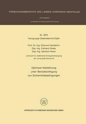 Optimale Netzfuhrung Unter Berucksichtigung Von Sicherheitsbedingungen (Paperback)
