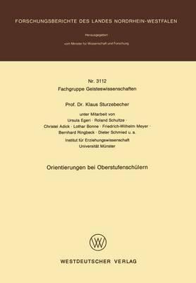 Orientierungen Bei Oberstufenschulern (Paperback)