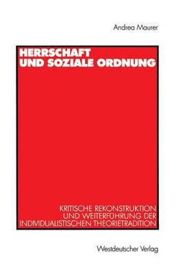 Herrschaft und Soziale Ordnung (Paperback)