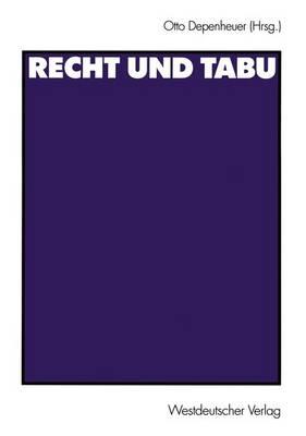 Recht und Tabu (Paperback)