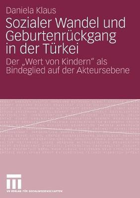 """Sozialer Wandel Und Geburtenr ckgang in Der T rkei: Der """"wert Von Kindern"""" ALS Bindeglied Auf Der Akteursebene (Paperback)"""