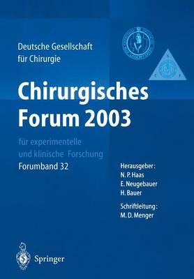 120. Kongress Der Deutschen Gesellschaft Feur Chirurgie (Hardback)