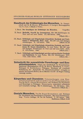 Vier Vortrage: Die Stellung Des Menschen Im Reiche Des Lebendigen. Uber Die Beurteilung Geistiger Leistung. Gegenwartsprobleme Der Anthropologie. Alte Und Neue Sozialanthropologie (Paperback)