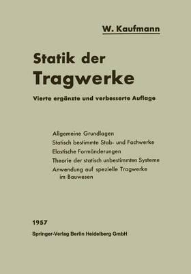 Statik Der Tragwerke - Handbibliothek Fa1/4r Bauingenieure. Neue Reihe (Paperback)