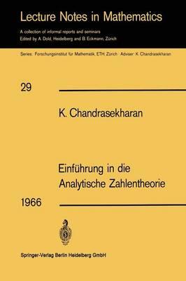 Einfuhrung in Die Analytische Zahlentheorie (Paperback)