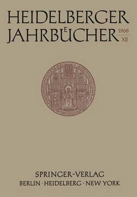 Heidelberger Jahrbucher: 16 (Paperback)
