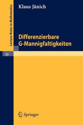Differenzierbare G-Mannigfaltigkeiten (Paperback)