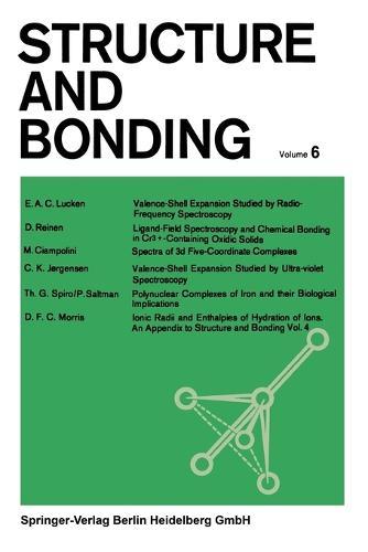 Structure and Bonding - Structure and Bonding 6 (Paperback)