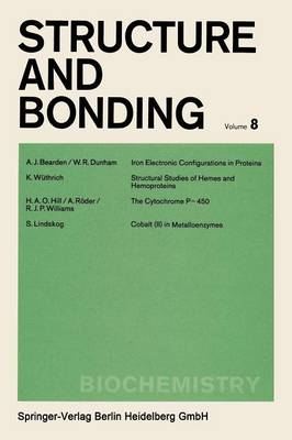 Biochemistry - Structure and Bonding 8 (Paperback)