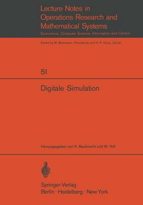 Digitale Simulation - Lecture Notes in Economic and Mathematical Systems 51 (Paperback)