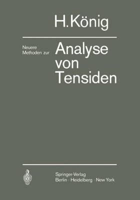 Neuere Methoden zur Analyse von Tensiden (Paperback)